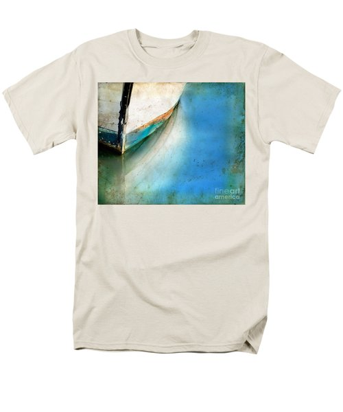 Bow Of An Old Boat Reflecting In Water Men's T-Shirt  (Regular Fit) by Jill Battaglia