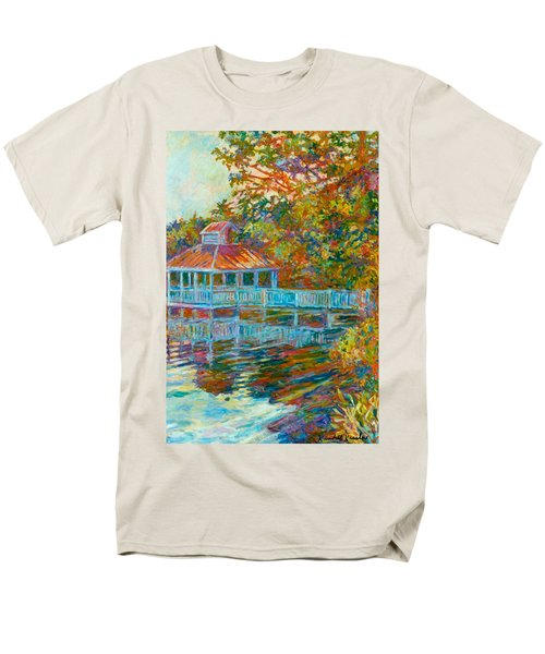 Boathouse At Mountain Lake Men's T-Shirt  (Regular Fit) by Kendall Kessler
