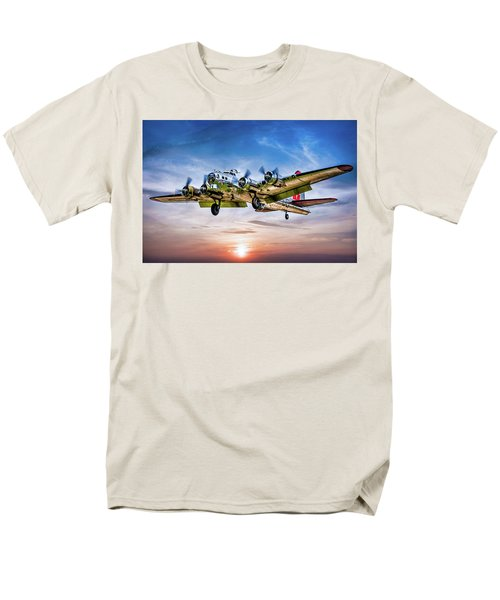 Men's T-Shirt  (Regular Fit) featuring the photograph Boeing B17g Flying Fortress Yankee Lady by Chris Lord