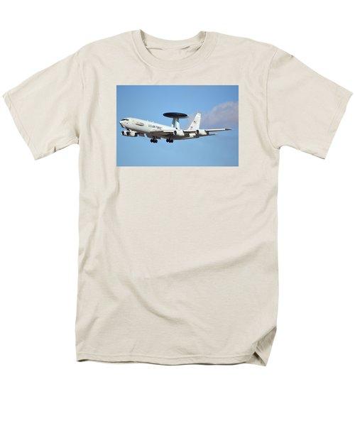 Boeing E-3b 71-1407 Sentry Phoenix Sky Harbor January 9 2015 Men's T-Shirt  (Regular Fit) by Brian Lockett