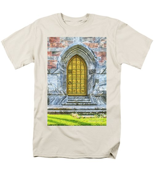 Men's T-Shirt  (Regular Fit) featuring the photograph Bok Tower Door by Deborah Benoit