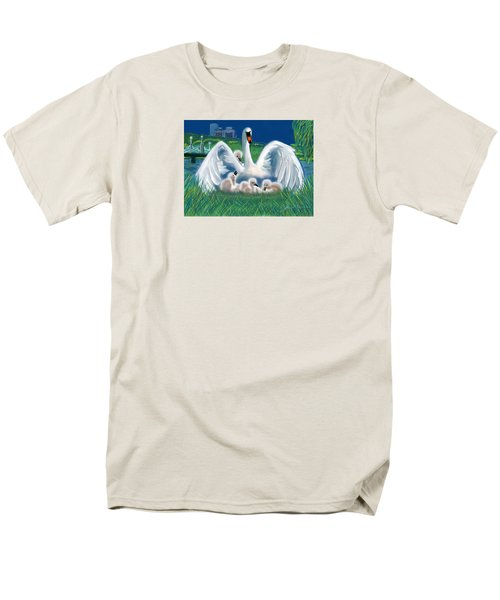 Men's T-Shirt  (Regular Fit) featuring the digital art Boston Embraces Her Own by Jean Pacheco Ravinski