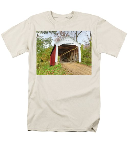 Bowser Ford Covered Bridge Men's T-Shirt  (Regular Fit) by Harold Rau