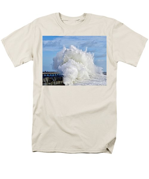 Breakwater Explosion Men's T-Shirt  (Regular Fit) by Michael Cinnamond