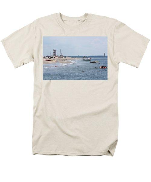 Men's T-Shirt  (Regular Fit) featuring the photograph Breezy Point Lighthouse by Ann Murphy