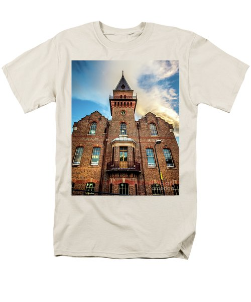 Men's T-Shirt  (Regular Fit) featuring the photograph Brick Tower by Perry Webster