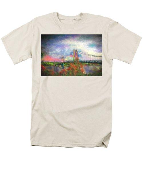 Bridge Blues Men's T-Shirt  (Regular Fit) by Terry Cork