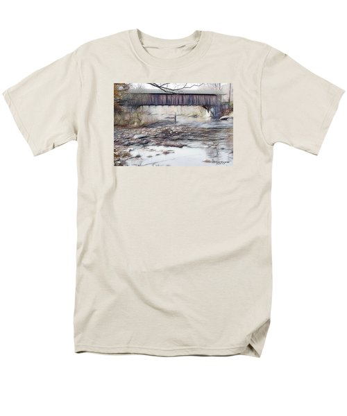 Men's T-Shirt  (Regular Fit) featuring the photograph Bridge Over Troubled Waters by EricaMaxine  Price