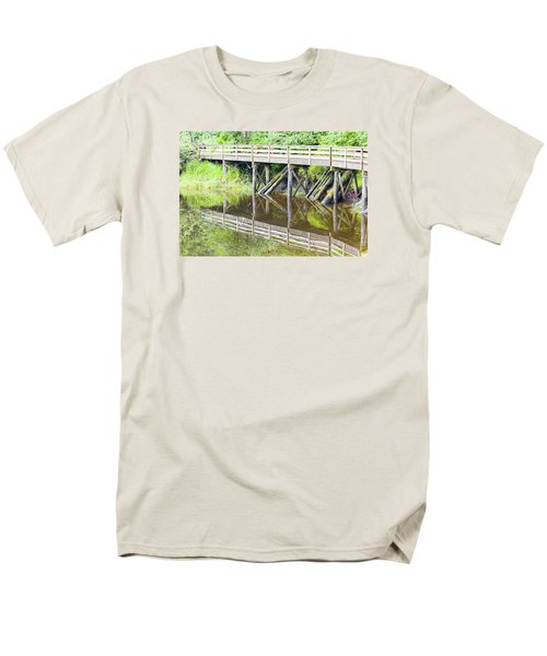Bridge To Nowhere Men's T-Shirt  (Regular Fit) by Harold Piskiel