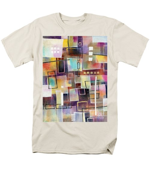 Men's T-Shirt  (Regular Fit) featuring the painting Bridging Gaps 2 by Hailey E Herrera