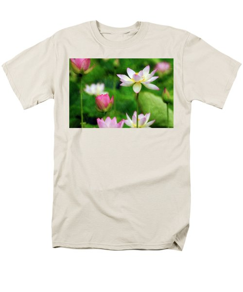 Men's T-Shirt  (Regular Fit) featuring the photograph Brushed Lotus by Edward Kreis