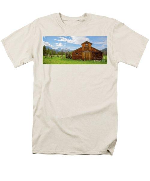 Buckaroo Barn In Rocky Mtn National Park Men's T-Shirt  (Regular Fit) by John Roberts