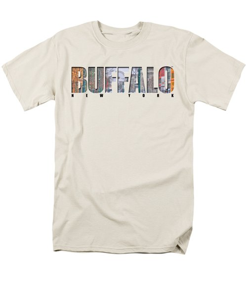Buffalo Ny Snowy Downtown Men's T-Shirt  (Regular Fit) by Michael Frank Jr