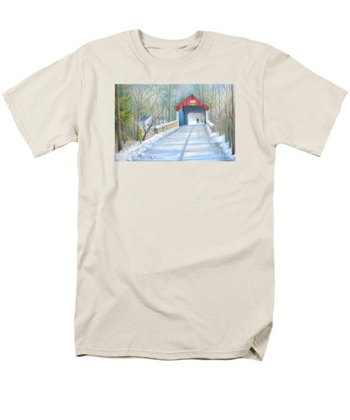 Cabin Run Bridge In Winter Men's T-Shirt  (Regular Fit) by Oz Freedgood