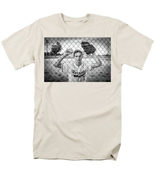 Men's T-Shirt  (Regular Fit) featuring the photograph Caged Competitor by Bill Pevlor