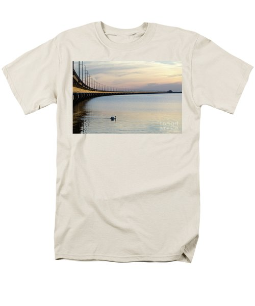 Calm Evening By The Bridge Men's T-Shirt  (Regular Fit) by Kennerth and Birgitta Kullman