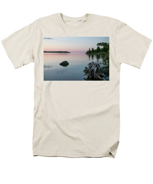 Calm Water At Lake Huron Crystal Point Men's T-Shirt  (Regular Fit) by Kelly Hazel