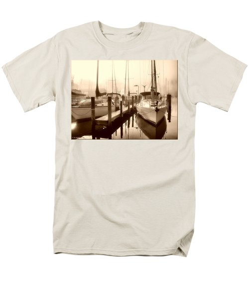 Men's T-Shirt  (Regular Fit) featuring the photograph Calmly Docked by Brian Wallace