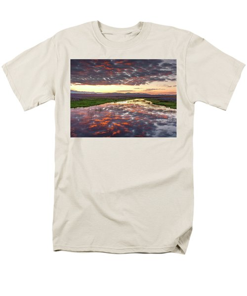 Men's T-Shirt  (Regular Fit) featuring the photograph Camas Spring Sunrise by Leland D Howard