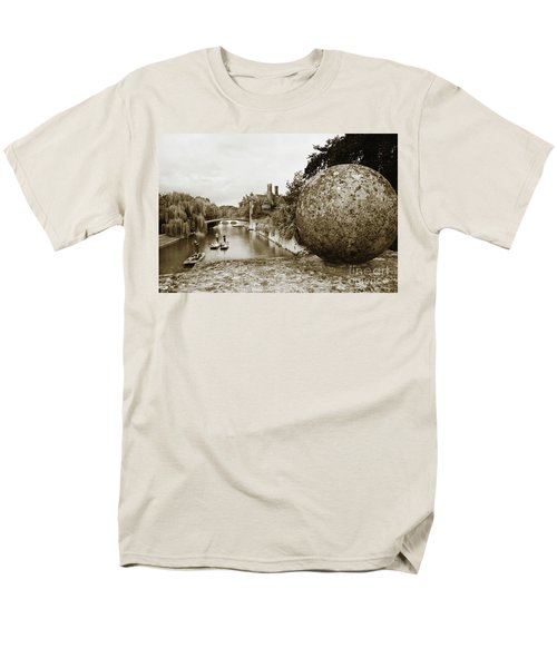 Men's T-Shirt  (Regular Fit) featuring the photograph Cambridge Punting Sepia by Eden Baed