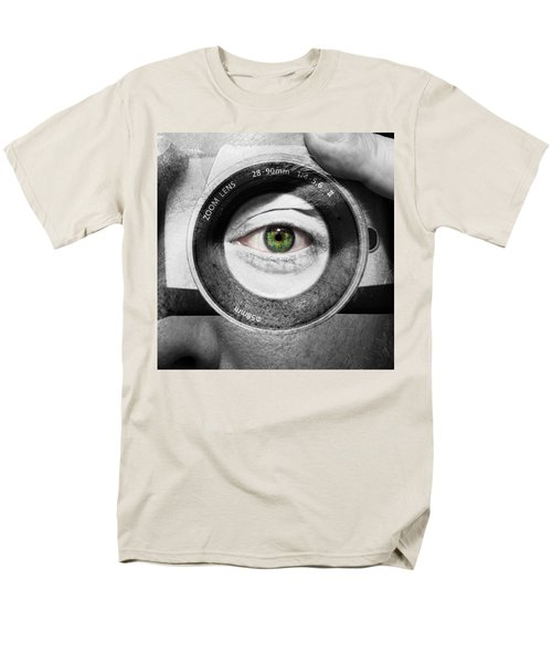 Camera Face Men's T-Shirt  (Regular Fit) by Semmick Photo