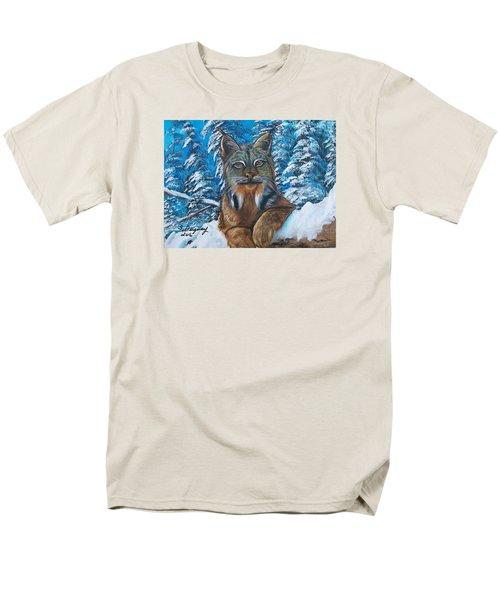 Canadian Lynx Men's T-Shirt  (Regular Fit)