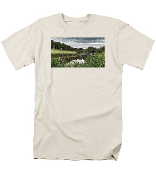 Men's T-Shirt  (Regular Fit) featuring the photograph Canal Boats by RKAB Works