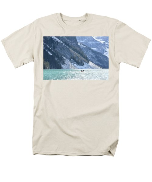 Canoeing On Lake Louise Men's T-Shirt  (Regular Fit) by Keith Boone