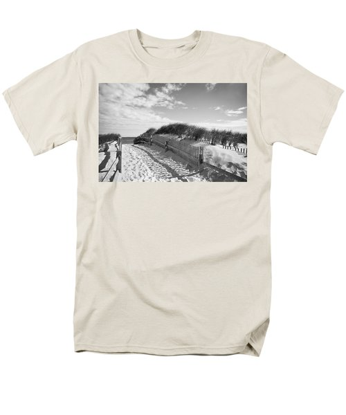 Cape Cod Beach Entry Men's T-Shirt  (Regular Fit) by Mircea Costina Photography