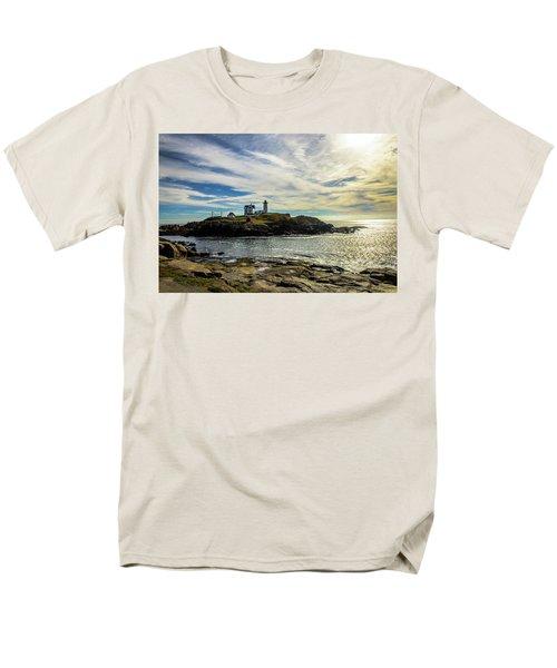 Cape Neddick Lighthouse Men's T-Shirt  (Regular Fit) by Sherman Perry