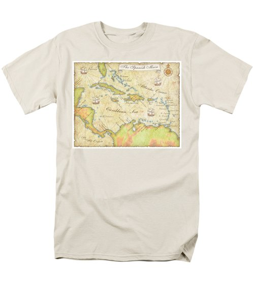 Caribbean Map - Good Men's T-Shirt  (Regular Fit) by Sample