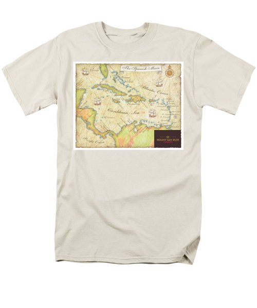 Men's T-Shirt  (Regular Fit) featuring the digital art Caribbean Map II by Unknown