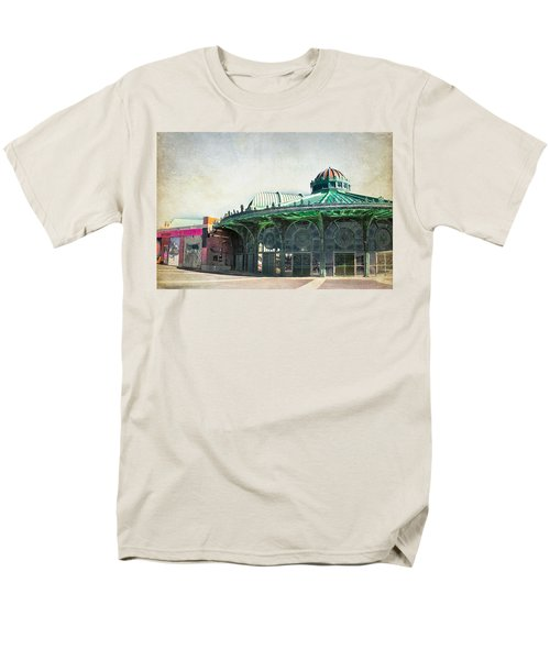 Carousel House At Asbury Park Men's T-Shirt  (Regular Fit) by Colleen Kammerer