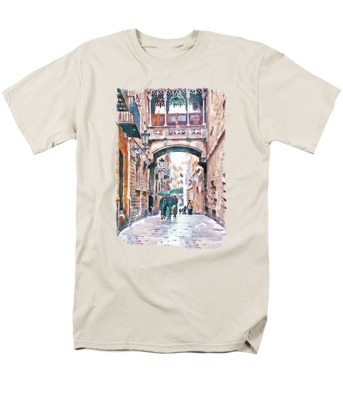 Carrer Del Bisbe - Barcelona Men's T-Shirt  (Regular Fit) by Marian Voicu