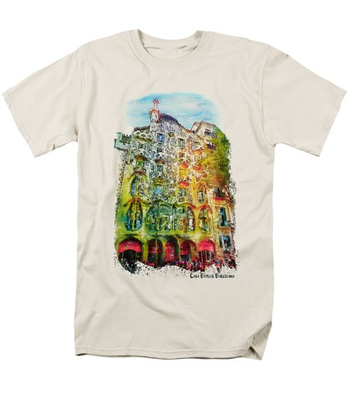 Casa Batllo Barcelona Men's T-Shirt  (Regular Fit) by Marian Voicu