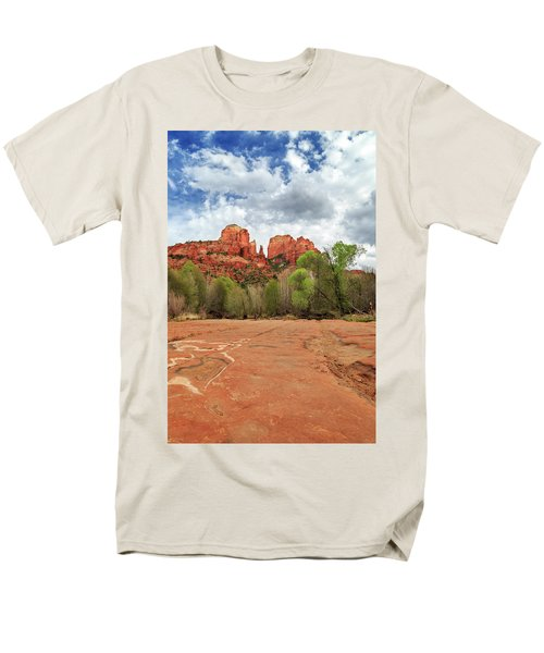 Men's T-Shirt  (Regular Fit) featuring the photograph Cathedral Rock Sedona by James Eddy