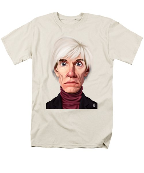 Celebrity Sunday - Andy Warhol Men's T-Shirt  (Regular Fit) by Rob Snow
