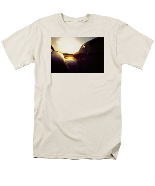Cessna 421c Golden Eagle IIi Silhouette Men's T-Shirt  (Regular Fit) by Greg Reed