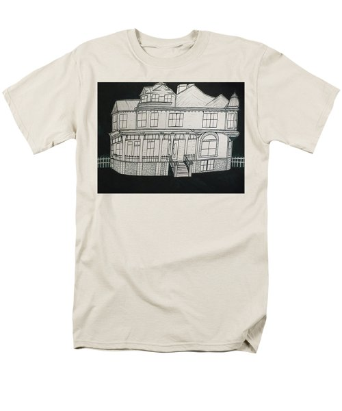 Charles A. Spies Historical Menominee Home. Men's T-Shirt  (Regular Fit) by Jonathon Hansen