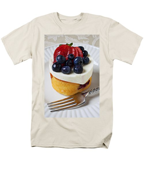 Cheese Cream Cake With Fruit Men's T-Shirt  (Regular Fit) by Garry Gay