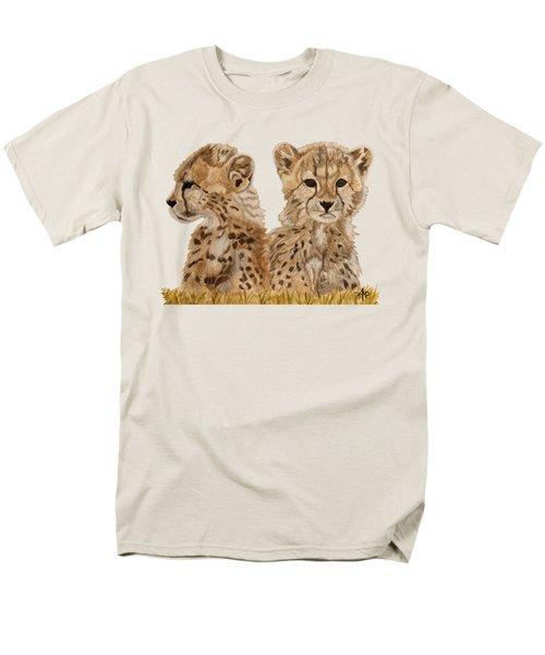 Cheetah Cubs Men's T-Shirt  (Regular Fit) by Angeles M Pomata