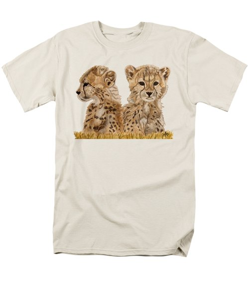 Cheetah Cubs Men's T-Shirt  (Regular Fit)