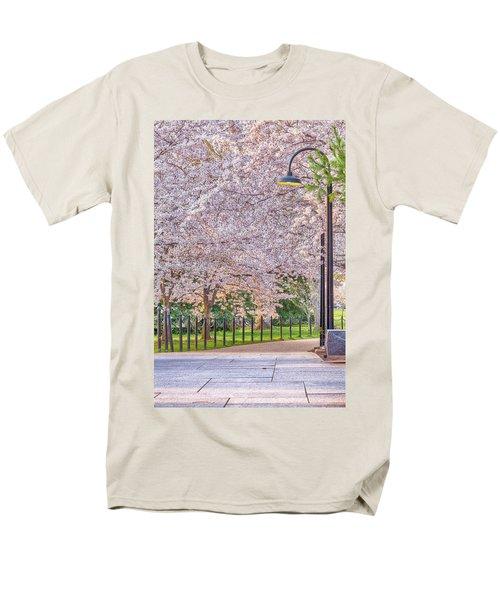 Cherry Morning Path Men's T-Shirt  (Regular Fit) by David Cote