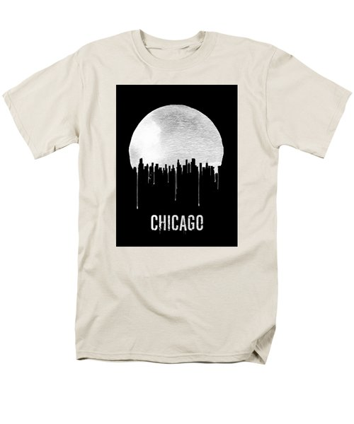 Chicago Skyline Black Men's T-Shirt  (Regular Fit) by Naxart Studio