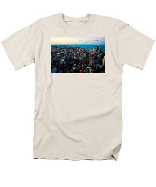 Chicago Skyline Men's T-Shirt  (Regular Fit) by Richard Zentner