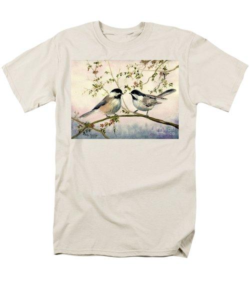 Chickadee Love Men's T-Shirt  (Regular Fit) by Melly Terpening