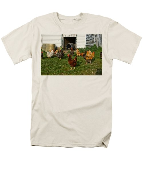 Men's T-Shirt  (Regular Fit) featuring the photograph Chicken Scratch by Steven Clipperton