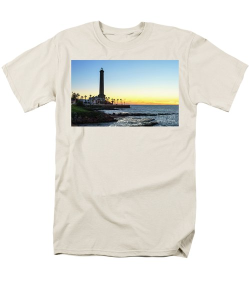 Chipiona Lighthouse Cadiz Spain Men's T-Shirt  (Regular Fit) by Pablo Avanzini