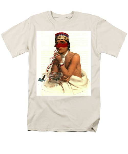 Men's T-Shirt  (Regular Fit) featuring the photograph Chippeway Chief 1836 by Padre Art