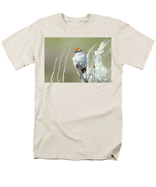 Men's T-Shirt  (Regular Fit) featuring the photograph Chipping Sparrow by Mike Dawson
